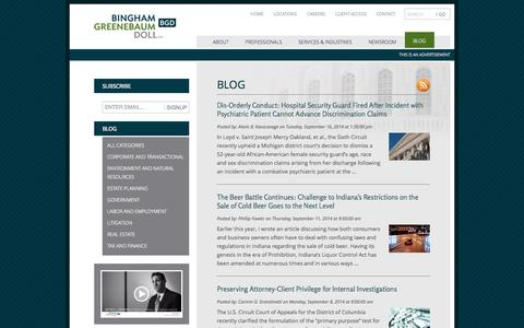 Screenshot of Blog bgdlegal.com - Blog   Bingham Greenebaum Doll LLP - captured Oct. 1, 2014
