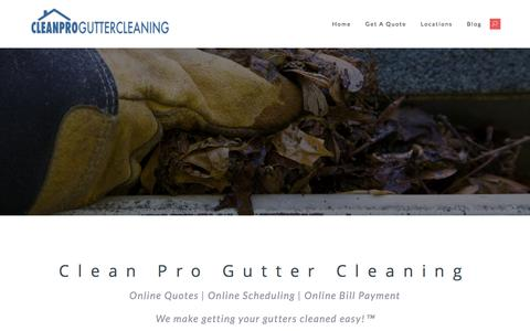 Screenshot of Home Page Site Map Page cleanproguttercleaning.com - Clean Pro Gutter Cleaning | A Professional Gutter Cleaning Company - captured Jan. 21, 2017