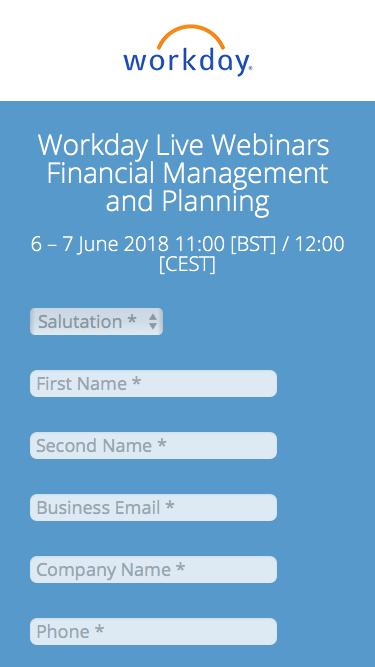 Workday Live Webinars – Financial Management and Planning