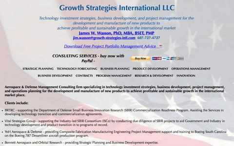 Screenshot of Home Page growth-strategies-intl.com - Growth Strategies International - captured Oct. 3, 2014