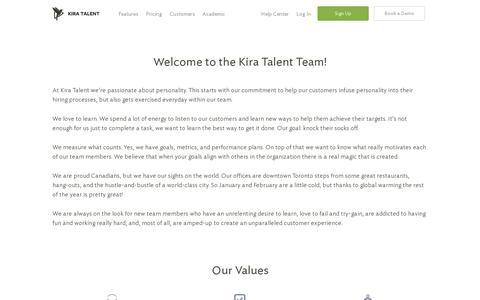 Screenshot of Jobs Page kiratalent.com - Careers at Kira Talent | Online Video Interviews - Kira Talent - captured July 19, 2014