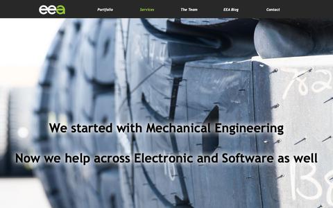 Screenshot of Services Page elementengineering.com.au - EEA Engineering Services - captured Dec. 14, 2018