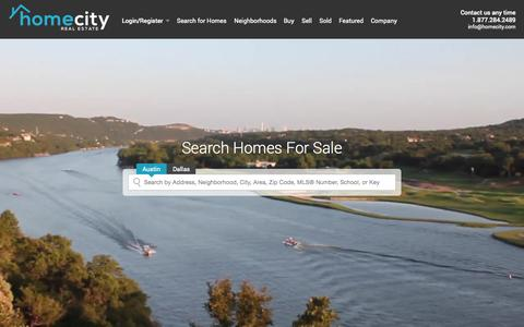 Screenshot of Home Page homecity.com - Real Estate | Homes for Sale | MLS Listings | Houses for Sale | Home Search  - HomeCity Real Estate - captured Oct. 1, 2015