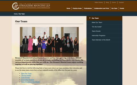 Screenshot of Team Page strazzerimancini.com - Our Team | STRAZZERI MANCINI LLP - captured Feb. 25, 2016