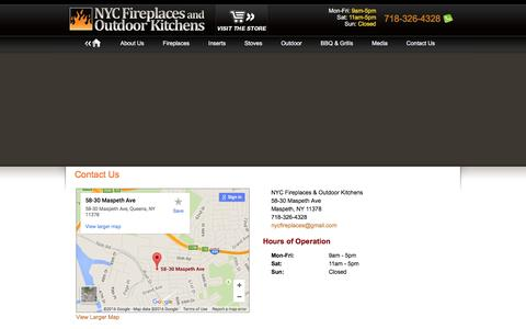 Screenshot of Contact Page nycfireplaces.com - Contact NYC Fireplaces and Outdoor Kitchens - captured Feb. 16, 2016