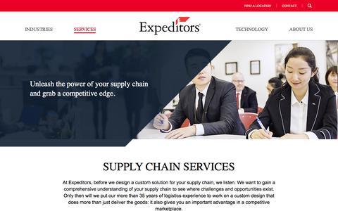 Supply Chain Solutions | Expeditors International of Washington, Inc.