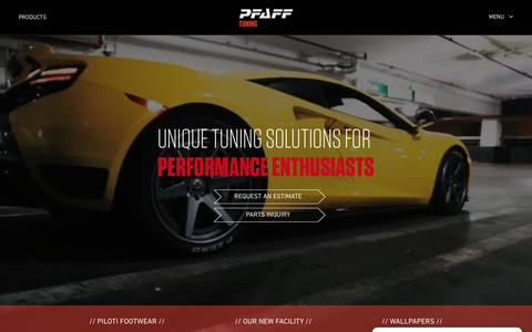 Screenshot of Home Page pfafftuning.com - Pfaff Tuning | Unique tuning solutions for luxury performance - captured July 17, 2018