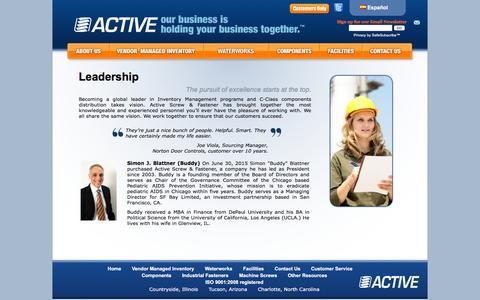 Screenshot of Team Page activescrew.com - Active Screw & Fastener - Active Inventory Management - Leadership | Active Screw - captured Feb. 5, 2016
