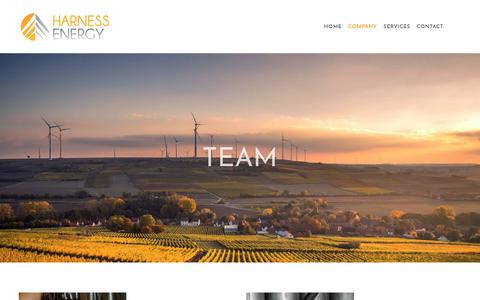 Screenshot of Team Page harnessre.com - Find a Met Tower Installer in Colorado — Harness Energy - captured Feb. 17, 2018