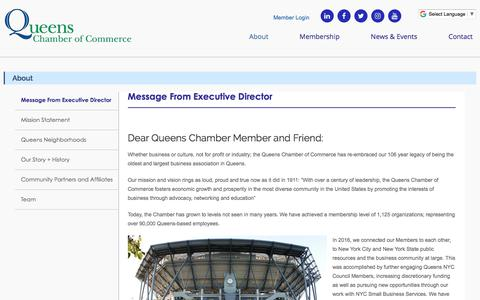Screenshot of About Page queenschamber.org - About – Queens Chamber of Commerce - captured Sept. 19, 2017