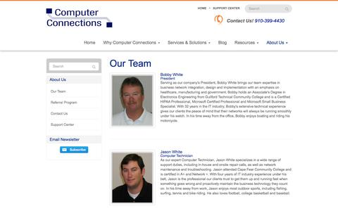 Screenshot of Team Page go-cci.com - Our Team - Wilmington, Leland, Hampstead | Computer Connections, Inc. - captured Aug. 19, 2017