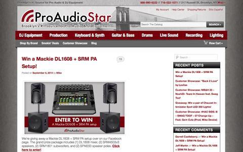 Screenshot of Blog proaudiostar.com - ProAudioStar Blog   Brooklyn's #1 Source for Pro Audio & DJ Equipment - captured Sept. 19, 2014