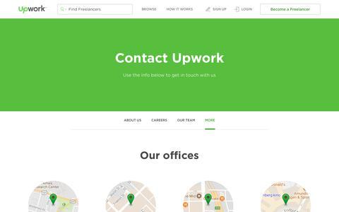 Screenshot of Contact Page upwork.com - Contact Us - Upwork - captured Oct. 6, 2017