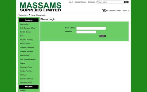 Screenshot of Login Page massamssupplies.co.uk - Please Login -Massams Supplies - captured Oct. 27, 2014