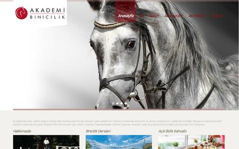 Screenshot of Home Page akademibinicilik.com - Akademi Binicilik Kulübü - captured Sept. 30, 2014