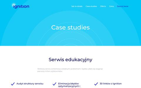 Screenshot of Case Studies Page ignition.co - Ignition - captured Sept. 22, 2018