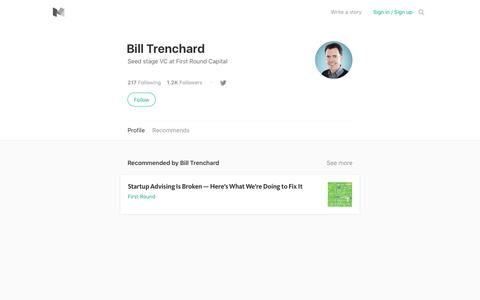 Bill Trenchard – Medium