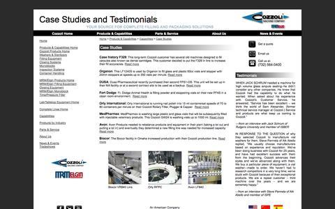 Screenshot of Case Studies Page cozzoli.com - Case Studies - captured Sept. 24, 2014