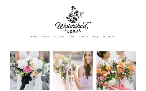 Screenshot of Press Page watershedfloral.com - Press — Watershed Floral - captured Oct. 25, 2018