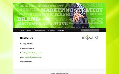 Screenshot of Contact Page expandmarketing.co.uk - Contact Us   eXpand Marketing - captured Oct. 3, 2014