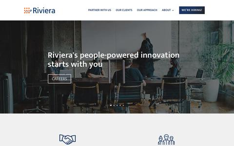 Screenshot of Home Page rivierapartners.com - Riviera Partners - Riviera Partners - captured May 17, 2019