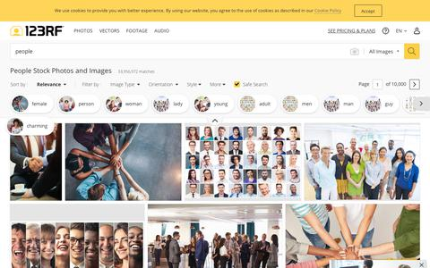 Screenshot of Team Page 123rf.com - People Stock Photos And Images - 123RF - captured July 29, 2019