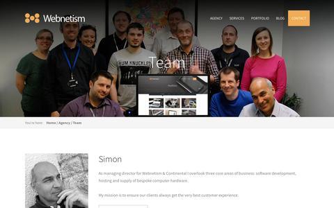 Screenshot of Team Page webnetism.com - Webnetism Team - The Web Design Experts in Cheltenham - captured Aug. 12, 2016