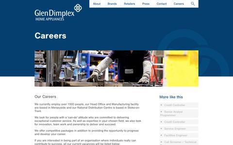 Screenshot of Jobs Page gdha.com - gdha.com - captured May 23, 2016
