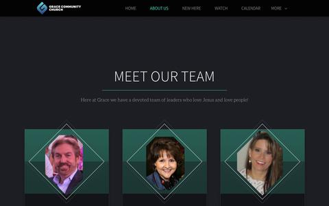 Screenshot of About Page Team Page gcclive.com - Grace Community Church | Our Team - captured July 14, 2018