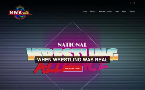 Screenshot of Home Page Privacy Page nwaondemand.com - National Wrestling Alliance NWA, International Wrestling Corp - captured May 7, 2017