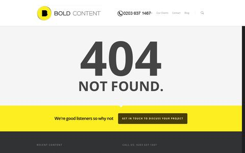 Screenshot of Contact Page boldcontent.tv - Nothing found for  Www Boldcontentvideo Com Contact - captured Nov. 3, 2014