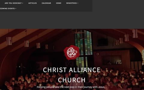 Screenshot of Services Page christalliance.org - Services – Christ Alliance Church - captured July 29, 2017