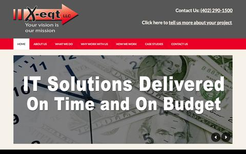Screenshot of Home Page x-eqt.com - X-eqt LLC – Information Technology and Business Consulting firm - captured Sept. 11, 2015