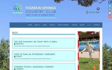 Screenshot of Blog fountainspringscountryclub.com - Event Venue Blog | Corporate Event Venue NJ Blog - captured July 2, 2018