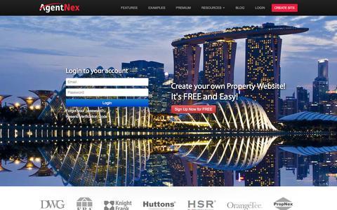 Screenshot of Login Page agentnex.com - Login - AgentNex.com - captured Sept. 30, 2014