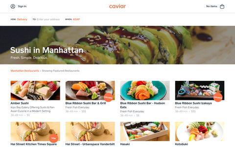 Sushi  in Manhattan | Caviar