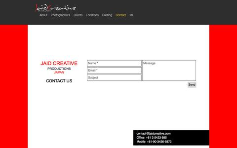 Screenshot of Contact Page jaidcreative.com - mysite-7   Contact - captured Sept. 20, 2018