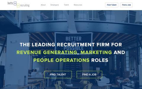 Betts Recruiting | Top Sales Recruitment Firm