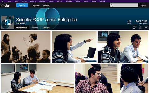 Screenshot of Flickr Page flickr.com - Flickr: ScientiaFCUP's Photostream - captured Oct. 23, 2014