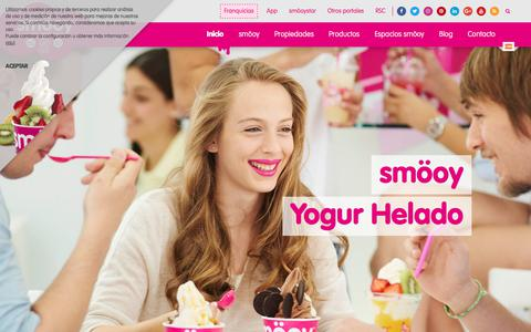 Screenshot of Home Page smooy.com - smooy: Yogur Helado Natural - Franquicia smöoy - captured June 14, 2017