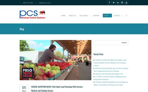 Screenshot of Blog pcsrcs.com - Blog - School Lunch POS | K-12 School Nutrition Software - captured Nov. 17, 2019