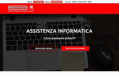 Screenshot of Home Page helpdeskcomputer.it - Centro assistenze e riparazioni informatiche - Consulenze aziendali - captured July 25, 2018