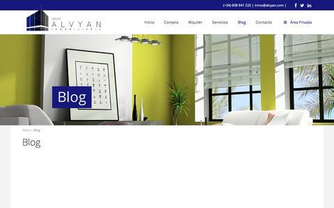 Screenshot of Blog alvyan.com - Blog | Grupo Alvyan – Inmobiliaria - captured Feb. 2, 2016