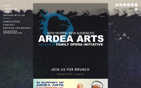 Screenshot of Press Page ardeaarts.com - News — Ardea Arts - captured Sept. 30, 2014