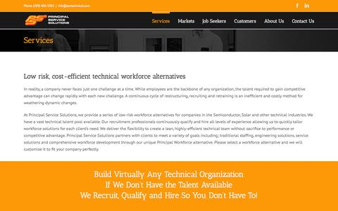 Screenshot of Services Page psstechnical.com - Services - PSS Technical - captured Nov. 21, 2015