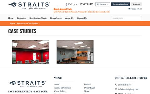 Screenshot of Case Studies Page straitslighting.com - Case Studies | Straits Lighting - captured Oct. 18, 2018
