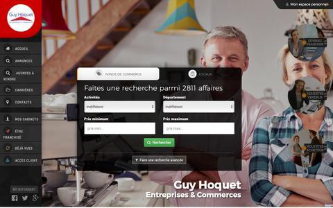 Screenshot of Home Page guyhoquetcommerce.com - Guy Hoquet - Entreprises et Commerces - Vente commerces et entreprises par Guy Hoquet - Entreprises et Commerces - captured Oct. 21, 2018