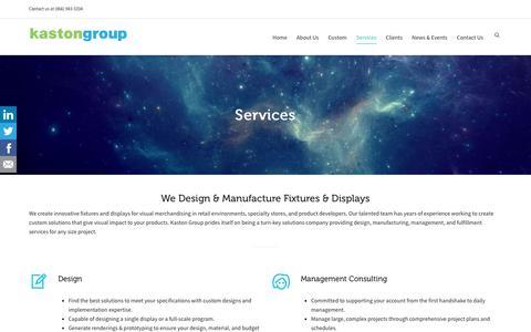 Screenshot of Services Page kastongroup.com - Services - Kaston Group - captured Sept. 20, 2018