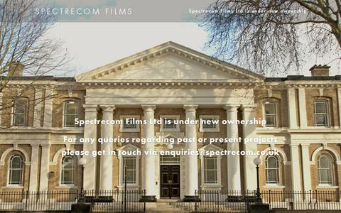 Screenshot of Home Page spectrecom.co.uk - Spectrecom Films | Creative Content Agency + Video Production in London - captured Oct. 15, 2019