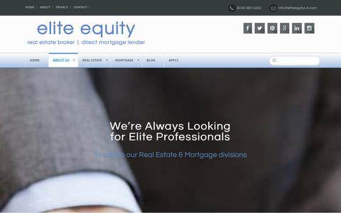 Screenshot of Jobs Page eliteequityla.com - Real Estate & Mortgage Careers - Elite Equity - captured Jan. 27, 2016